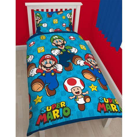 Nintendo Bedding Set Official Nintendo Mario Brothers Bedding Duvet Cover Sets Boys Bedroom Ebay