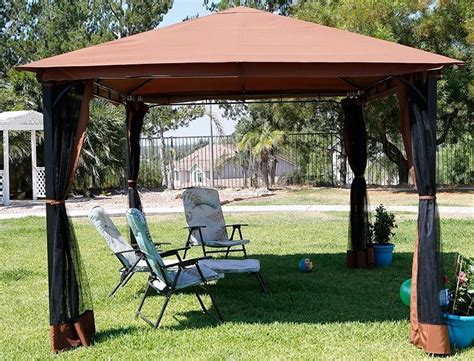 10 X 12 Patio Gazebo Convenience Boutique Outdoor 10 X 12 Backyard Garden Awnings Patio Gazebo Canopy Tent Netting
