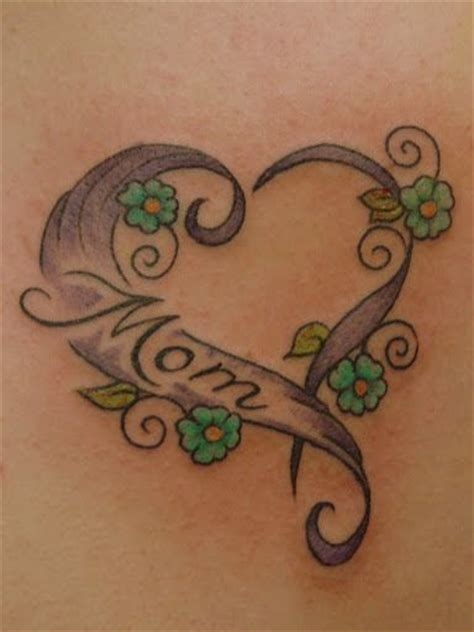 simple heart mom tattoo gt top 9 cool mom tattoo designs