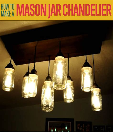 How To Make A Mason Jar Chandelier Diy Projects Craft How To Build A Jar Chandelier