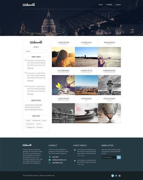 Professional Free Corporate Web Design Template Psd Css Author Web Design Template