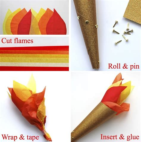 How To Make A Paper Torch - projects