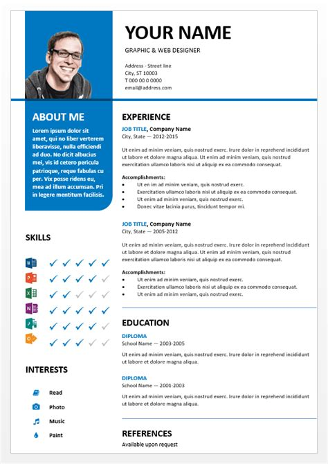 Powerpoint Resume Template by Bayview Mod 232 Le De Cv Powerpoint