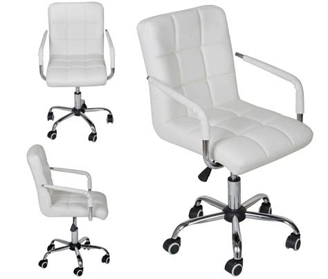white leather office chair white modern office leather chair hydraulic swivel