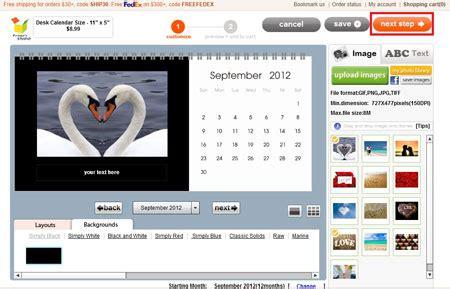 print your own desk calendar your own desk calendar tutorials