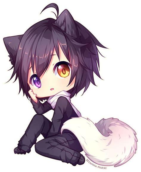 anime chibi wolf commission kuraimas by hyanna natsu on deviantart