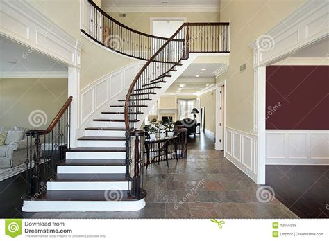 Split Foyer Floor Plans by Foyer In Open Floor Plan Royalty Free Stock Images Image