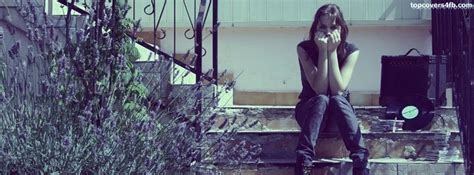 stylish heart facebook timeline cover girl alone on stairs facebook cover awesome dps for