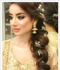 pakistan hair style latest pakistani bridal wedding hairstyles trends 2017