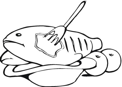 free coloring pages of meat fish