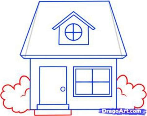 how to draw a house how to draw a house coloring pages to print