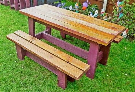 garden bench and table wooden pallet garden bench plans pallet wood projects