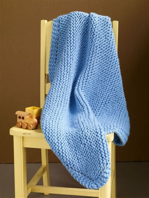 Easy Knit Baby Blanket For Beginners by Free Easy Knitting Patterns For Baby Blankets For