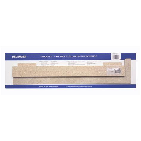 Countertop End Cap Installation by Shop Belanger Laminate Countertops Travertine Matte