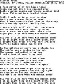 bruce springsteen song haunted house lyrics