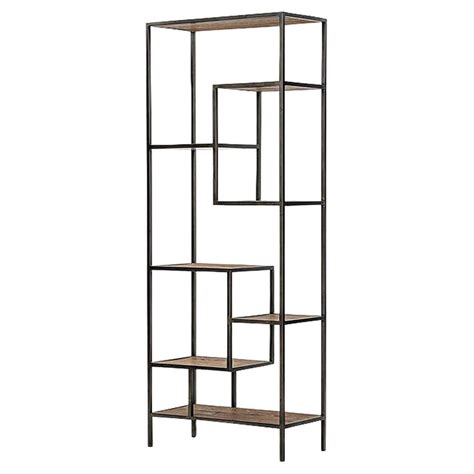 Modern Metal Bookcase zane modern classic repurposed pine metal bookcase 83w kathy kuo home