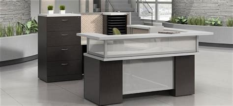 Zira Reception Desk Global Total Office Zira Series U Shaped Reception Desks For Sale