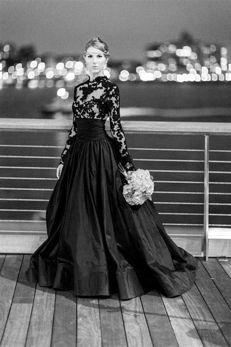 The Sexy and Sophisticated Touches on Black Wedding Gowns - Godfather Style
