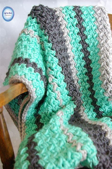 crochet pattern quick baby blanket quick and easy baby bean stitch baby blanket blanket