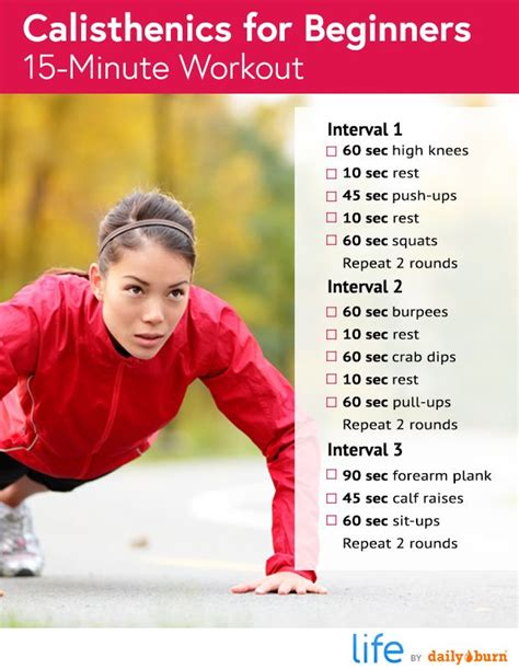 17 best ideas about easy beginner workouts on pinterest 17 best ideas about calisthenics workout for beginners on