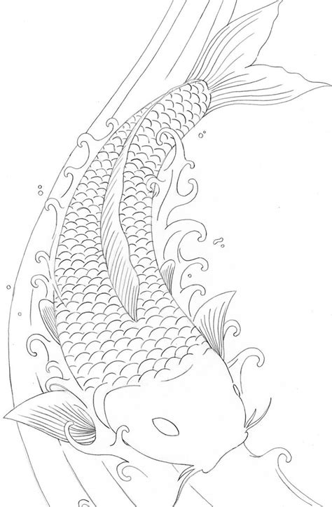 dragon fish coloring page tattoo gallery by joanne solomon