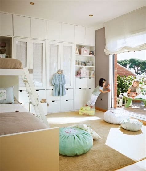 beige and mint green kids bedroom for two kidsomania