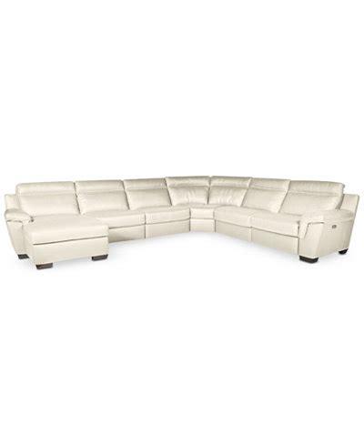 gennaro 5 pc leather sectional sofa macys leather sectional sofa stacey leather 6