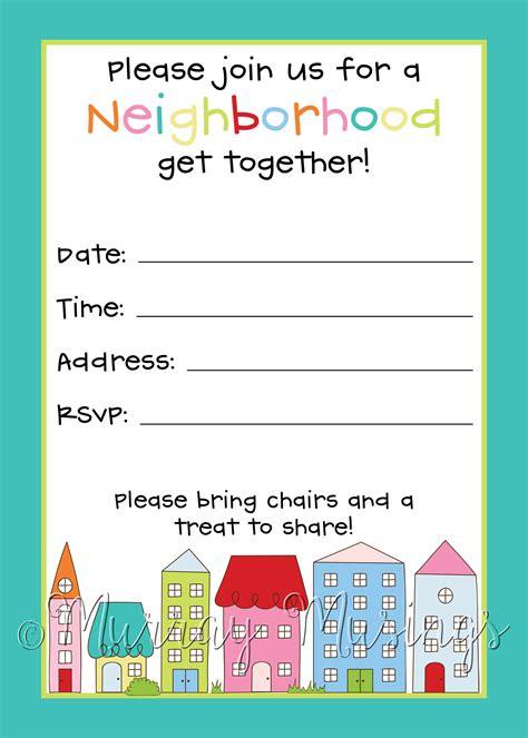 Free Neighborhood Watch Flyer Templates neighborhood block invitation freeprintable