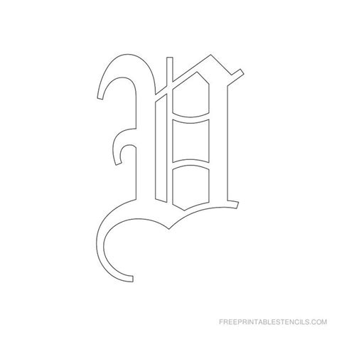 printable old english alphabet stencil d crafts 17 best images about old english on pinterest filet