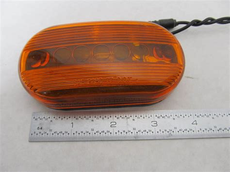 boat trailer clearance lights amber oblong boat trailer clearance marker light 4 quot x 2