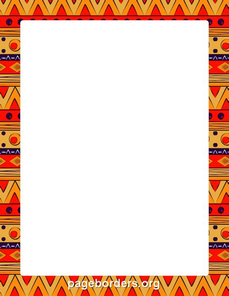 african border clip art page border  vector graphics