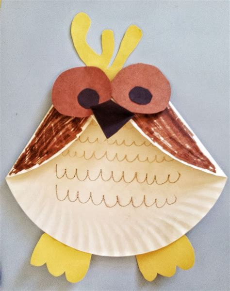Owl Paper Plate Craft - activities for paper plate owl craft