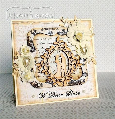 Stempel Lu 49 best images about ślub wedding on wedding day cards vintage and easel cards