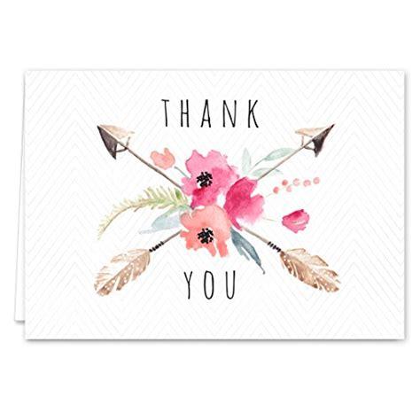 Boho Thank You Cards