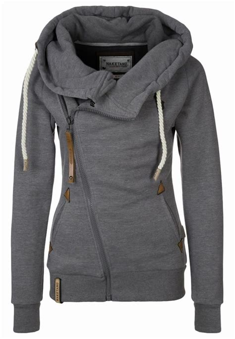 Jaket Hoodie Naketano Family Biz Iii Hooded Jacket For Grey