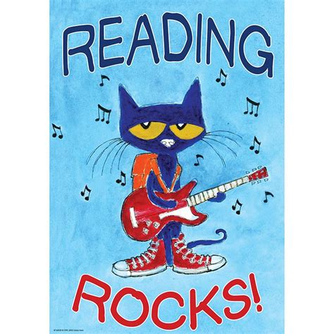 Pete The Cat Rock On And pete the cat reading rocks poster bulletin board chart
