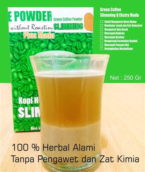 Diskon Slimming Green Bean Coffee 250gr Kopi Diet Premium jual minuman herbal diet pelangsing kopi hijau wmp slimming q green coffee ekstra madu 250 gr di