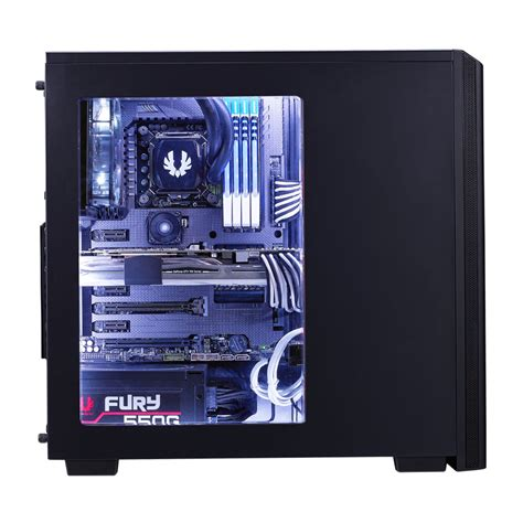 Casing Black bitfenix black windowed atx gaming
