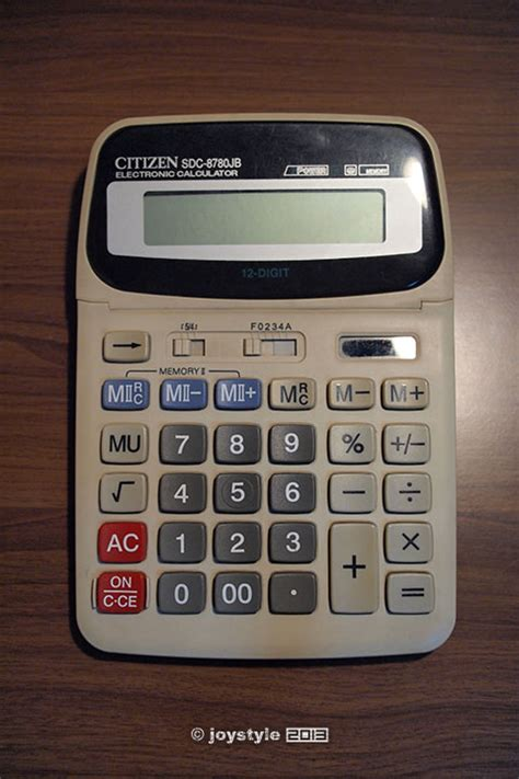 Kalkulator Citizen 8780 那些德味的计算器们