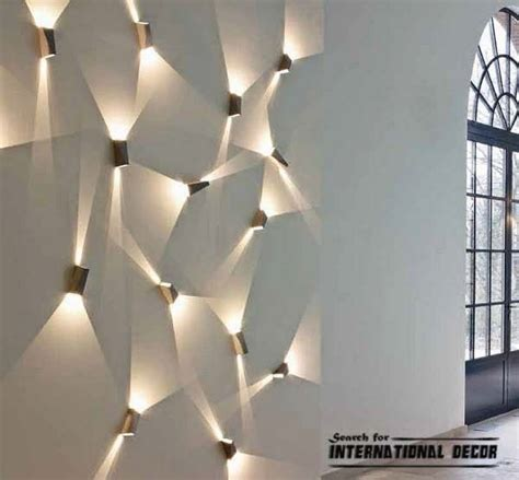 unique led light for your house walls to decor you contemporary lighting ideas contemporary wall lights
