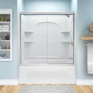 sterling tub shower doors sterling finesse frameless by pass bath door at menards 174