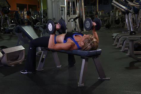 bench press and dumbbell press dumbbell bench press jpg