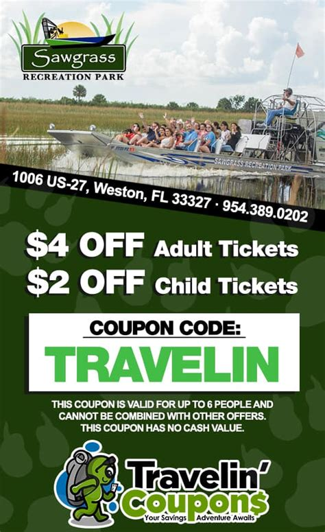 miami boat show 2018 coupons sawgrass recreation park coupon save up to 4 00 per
