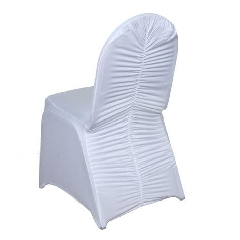 Ruched Chair Covers by 100 Pcs Ruched Spandex Banquet Chair Covers Wedding