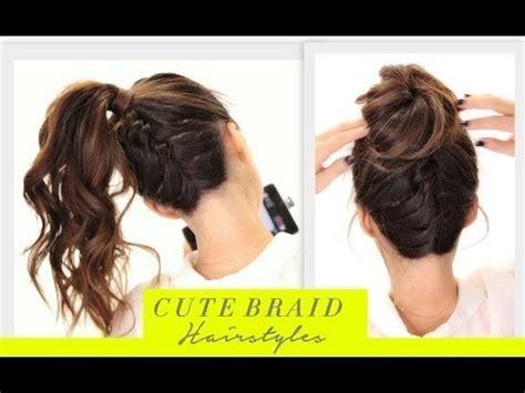 cute back to school hairstyles tutorial cute braids back to school hairstyles hair tutorial