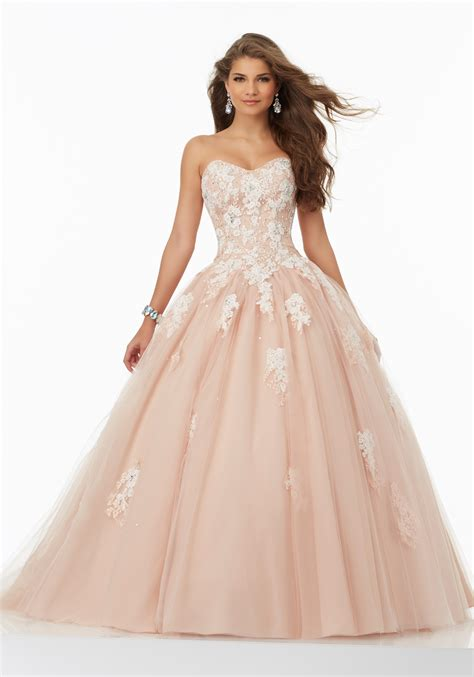ball gown and prom dresses prom ballgown with lace bodice and on tulle skirt style