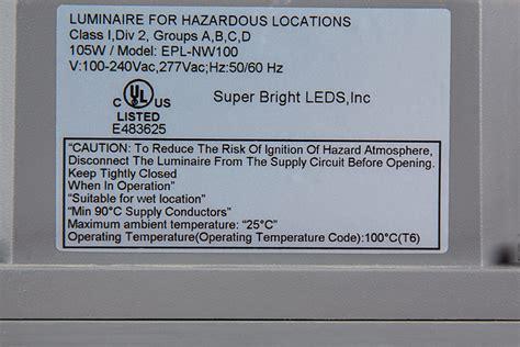100 Watt LED Explosion Proof Light for Class 1 Division 2 Hazardous Locations 9,000 Lumens