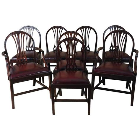 Set Of Eight Mahogany Hepplewhite Style Dining Chairs For 8 Dining Chairs For Sale