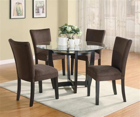 set of dining room chairs stylish 5 pc dinette dining table parsons dining room