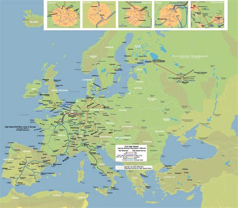 rail map of europe maps map of europe rail